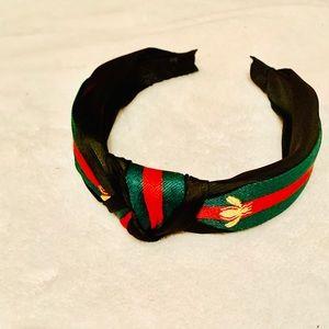Black Bumble Bee Striped Headband